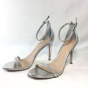 ALDO Silver Sandals with Rhinestones.  Size 8